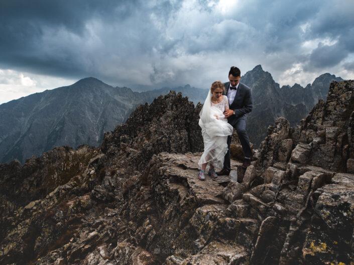 Górski plener ślubny – Łomnica – Szczyrbskie Jezioro