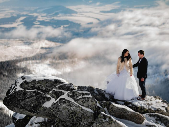 Zimowy Plener Ślubny – Tatry Wysokie – Skrajne Solisko – Szczyrbskie Jezioro